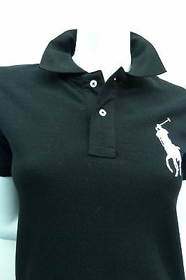 Ralph Lauren Ladies polo shirt Big Pony Classic Fit  Black & Silver  **NEW** NWT