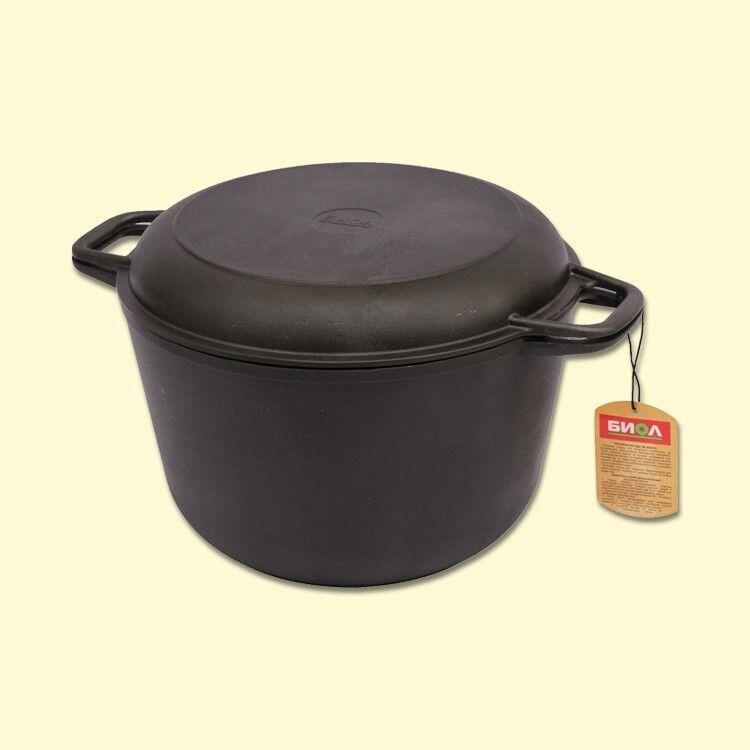 Fonte Marmite Chaudron Kazan avec Couvercle en métal comme Poêle utilisable 6 L