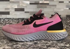 Details about WMNS Sz 8.5 Nike Epic React Flyknit Plum Dust Pink AQ0070 500