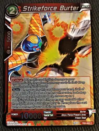 Strikeforce Burter TB3-008 FOIL C Dragon Ball Super TCG Near Mint