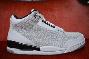 3f325b43de9f 2007 Nike Air Jordan III 3 Retro FLIP CEMENT GREY WHITE BLACK RED ...