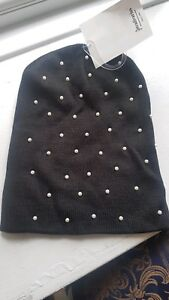 93315d296ac Image is loading Stradivarius-hat-with-pearl-beads