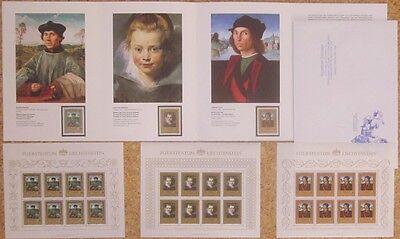 Gemälde! Liechtenstein Aus 1985 ** Postfrisch Minr.881-883 Kleinbögen Kunst & Kultur