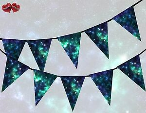 Universe-Cosmos-Outer-Space-Night-Sky-Mystic-Stars-Bunting-Banner-15-flags