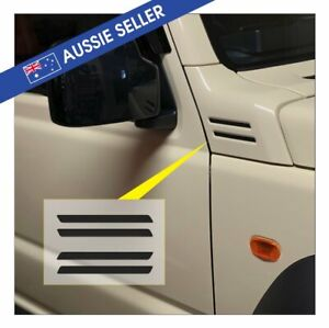 Suzuki-Jimny-Vent-Stickers-Matt-Black-PAIR-Left-amp-Right-Samurai-JB74W-JB64W