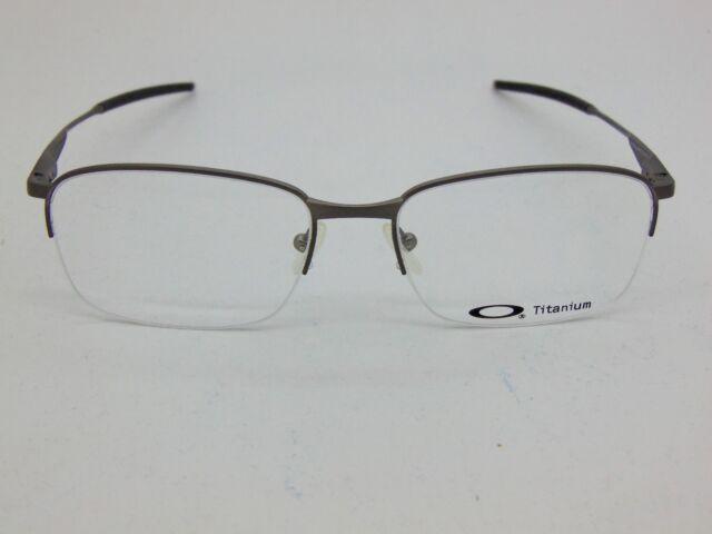 d536070ed739 Oakley Wingfold Eyeglasses Frame Unisex Brushed Chrome Titanium Ox5101 5117  0353