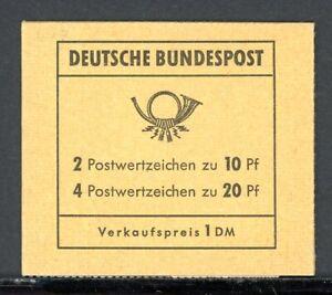 Bund-Markenheftchen-MiNr-MH-13-b-postfrisch-MNH-geschlossen-Q11901
