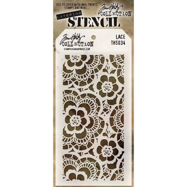 TH - Layered Stencil 4.125in x 8.5in. - Lace