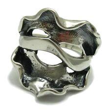 Sterling Silver Ring Genuine Solid 925 Spiral Handmade Adjustable Size Empress