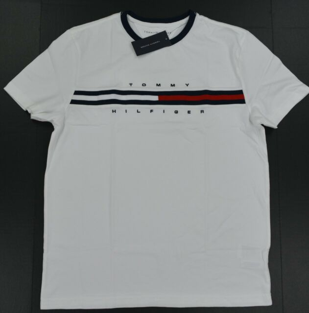 00f8b0c3d Tommy Hilfiger Men Classic Fit Big Logo T-shirt Regular L Whites for ...