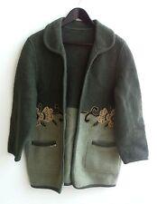 Damen Trachten Janker Jacke grün m. Motiv Gr. 44 v. Bolero