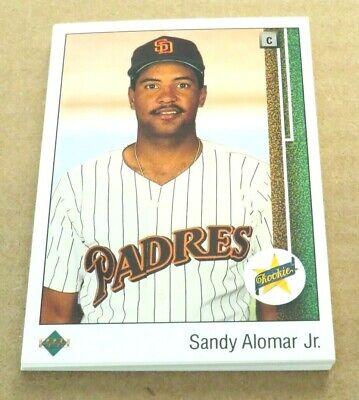 Sandy Alomar Signed Autographed 1989 Upper Deck Rookie Baseball Card Jr San Diego Padres