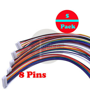 5x-Male-amp-Female-Micro-JST-2-0-PH-8-Pin-Connector-plug-w-Wires-Cables-300mm-30cm