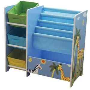 Safari Kids Toy Storage Unit Book Display Bookshelf