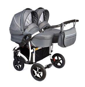 Details About Double Dorjan Twin Tandem Double Pram Pushchair Stroller Buggy Car Seat 2 Babies
