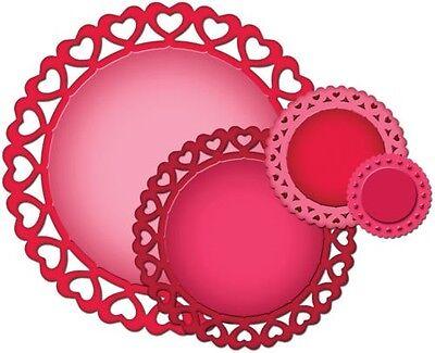 Spellbinders Nestabilities HEART CIRCLES 4 DIES FRAMES