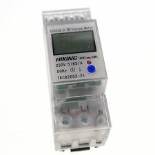 5-65A 230V 50Hz Single Phase Reset To Zero DIN-rail Kilowatt LED kwh Meter
