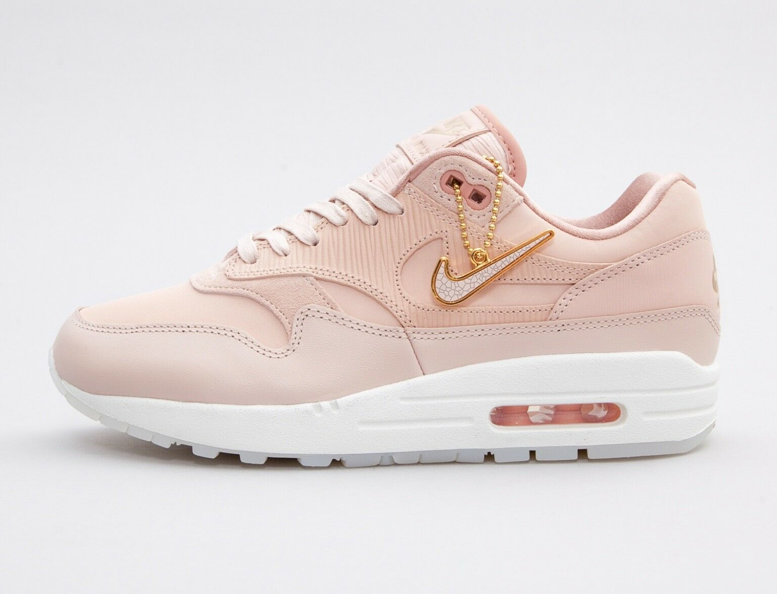 femmes Nike Air Max 1 PRM Trainer 454746-206 UK8/EU42.5/US10.5 Particle Beige