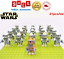 thumbnail 2 - 21pcs lot STAR WARS Clone Trooper Commander Fox Rex Mini toy building block