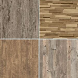 Details About Realistic Wood Wallpaper Faux Wooden Effect Modern Realistic Panel Stripe Beam