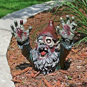 Zombie-Gnombie-Gnome-Design-Toscano-Exclusive-10-034-Hand-Painted-Statue