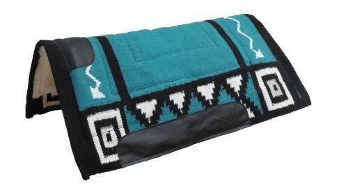 mostrareuomo 36x34 Cutter stile Woven Wool Saddle Pad w TEAL Navajo Design   nuovo
