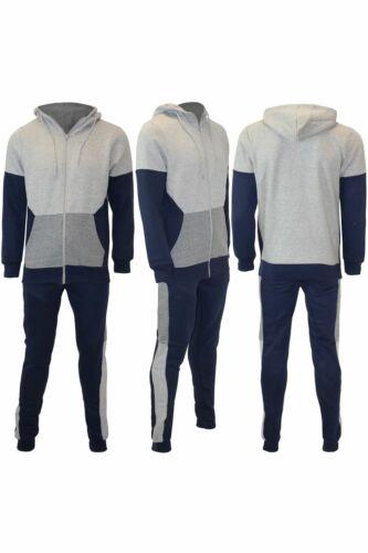 Panel De Contraste Sudadera Para Hombre Polar Con Capucha Chándal Jogging Inferior Jogger Set