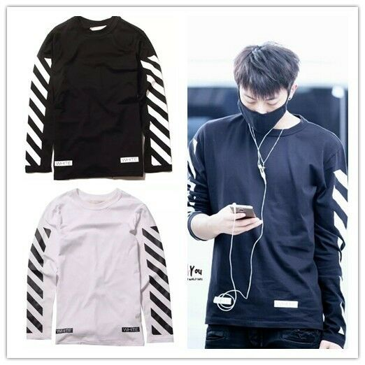 Kpop EXO EXO-M TAO Same Style PYREX Off White letters Sweatshirt T-Shirt New