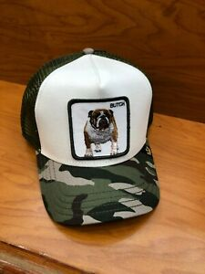 49666ab9f6ee82 Goorin Bros Butch Mesh Trucker Baseball Cap Animal Farm In Olive | eBay