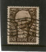 1949 BIRTH BICENTENARY OF VITTORIO ALFIERI 20l BROWN USED REF 355