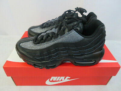 Women's Nike Air Max 95 SE AT0068 001 Triple Blackout Silver Grey Many Sizes | eBay