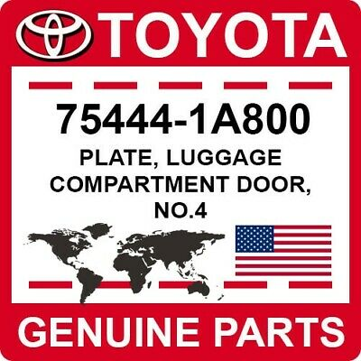 Genuine Toyota 75444-1A800 Luggage Compartment Plate