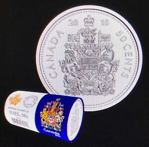 From mint roll Coat of Arms of Canada CANADA 2017 50 CENTS COIN UNC
