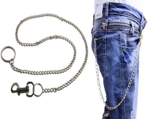 Nouveau en métal argenté clé Jeans Portefeuille Ceinture Chaîne Anneau gothique Biker Hommes//Femmes 70 cm