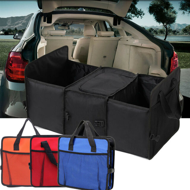 Foldable Car Auto Back Rear Trunk Seat Red Storage Bag Pocket Cage Organizer New