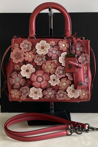 COACH 1941 (WASHED) RED TEA ROSE ROGUE 25 SATCHEL