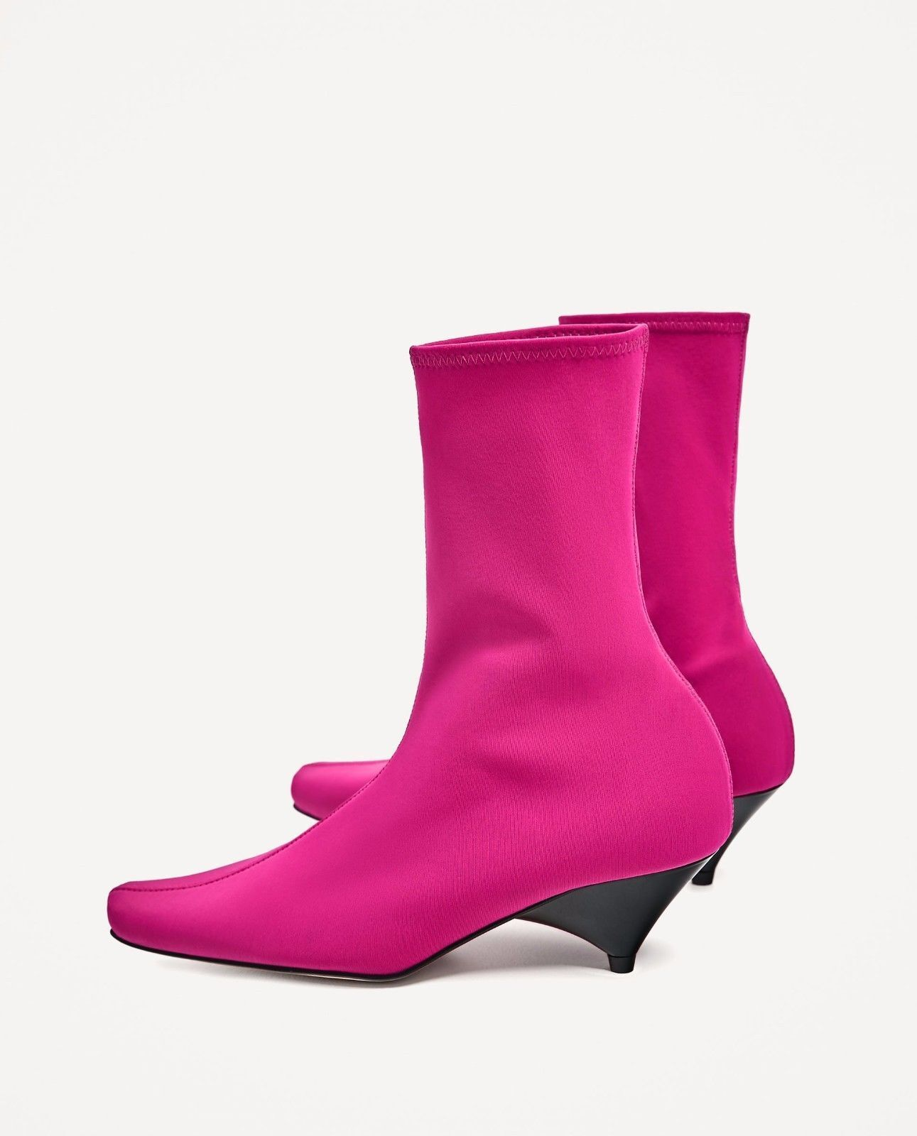 ZARA NEW FUCHSIA SOCK ANKLE bottes ALL TailleS 1114 201