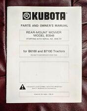 New Listingkubota B6100 B7100 Tractor B 3548 Rear Mower Operators Manual Parts Catalog