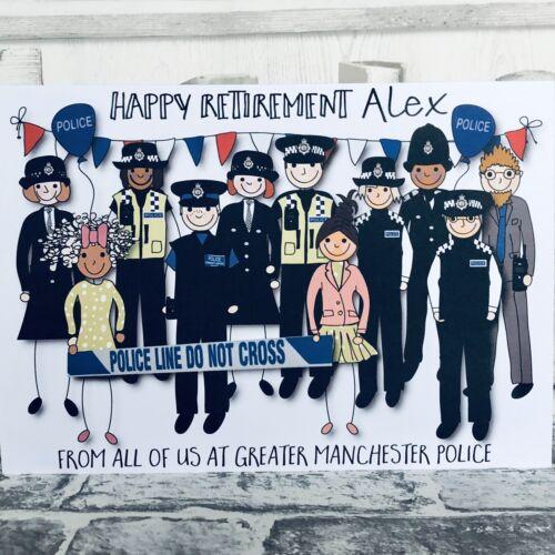personnalisé Officier de Police à la retraite laissant carte de nous tous grande taille