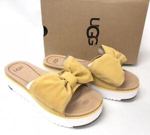 1aaeb3c091b7 UGG Australia Women s Joan Sunflower 1019868 Bow Tie Sandal Shoes ...
