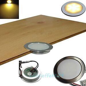 1 10er sets extra flache led lampen 12v ip67 feuchtraum b den laminat bad flur ebay. Black Bedroom Furniture Sets. Home Design Ideas