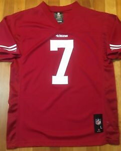 outlet store 35204 ecb55 Details about Colin Kaepernick 49ers Red NFL Authentic Jersey Youth Lg  14-16 Womens Small A+