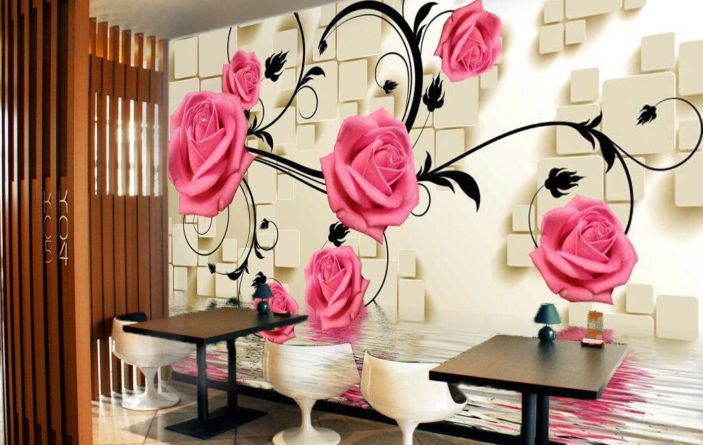 3D Fresh Pink pink Plant 4147 Wall Paper Wall Print Decal Wall AJ WALLPAPER CA