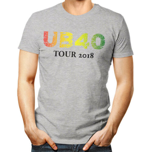 UB40 tour 2018 unisex T Shirt Grey women men gift tee top music reggae cool band