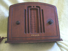 VINTAGE 1933 PHILCO TUBE RADIO Wood Case Model 57 or 57 C Incomplete label ID