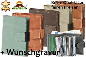 Woodland-Super-Kompakte-Geldboerse-XXL-Kreditkartentaschen-Bueffelleder-Gravur