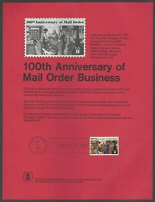 # 1468 Mail Order Business, Commemorative Souvenir Page Snelle Warmteafvoer
