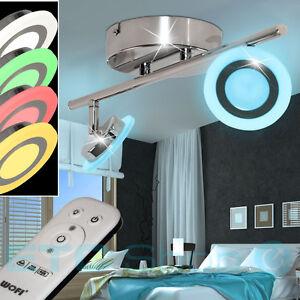 LED-Decken-Leuchte-mit-FERNBEDIENUNG-Dimmbar-RGB-Lampe-verstellbar-Wand-Strahler