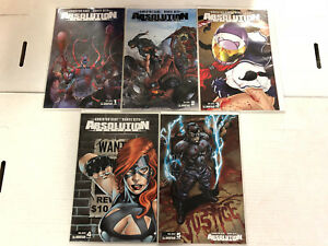 Absolution: Rubicon #1 2 3 4 5 Comic Book Set Final Justice Avatar 2013 1-5