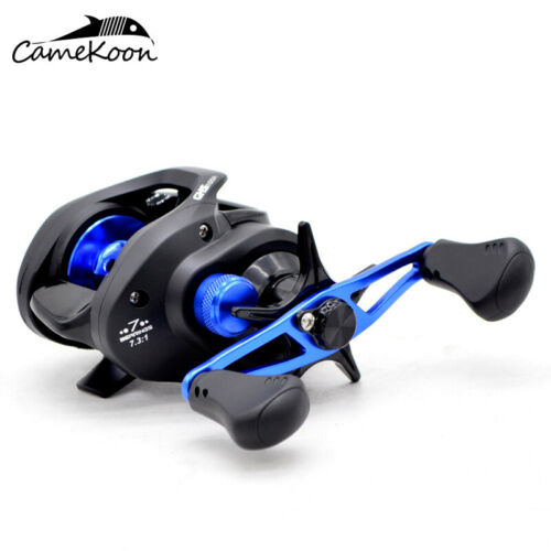 CAMEKOON Low Profile 20LB Drag Baitcasting Fishing 7.3:1 Gear Ratio Casting Reel